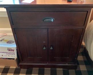 136. Restoration Hardware 1 Drawer 2 Door Nightstand (29'' x 18'' x 32'')