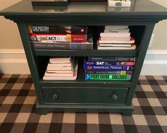 143. 2 Shelf 1 Drawer Green Painted Nightstand (27'' x 17'' x 26'')
