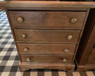 141. Pine 4 Drawer Nightstand (23'' x 19'' x 28'')