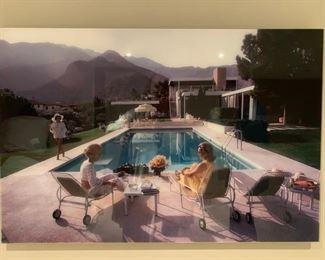161. 1960's Pool Scene (36'' x 24'')