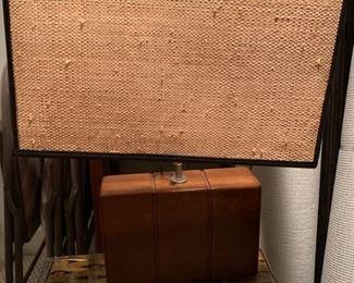 164. Pair of Wood Lamps w/ Rattan Shade (18'' x 24'')