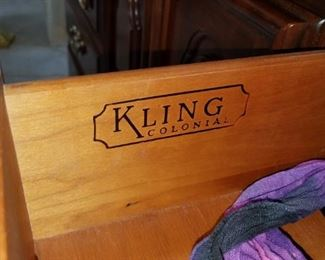 bedroom set by Kling.  Perfect condition.