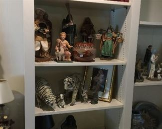 The beginning of many figurines, religious and animals.  All different, all in mint condition.