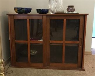 Medium size storage cabinet w/sliding doors