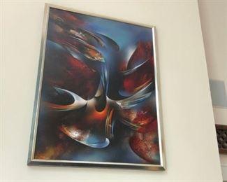 large Leonardo Nierman Abstract Painting