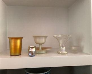 Tiffany Studios and Steuben art glass