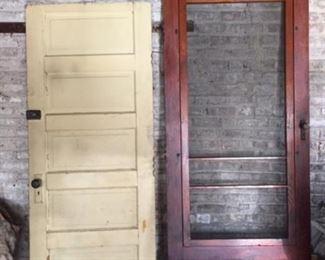 Original Bungalow Door and Stormdoor with Hardware