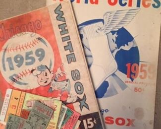 1959 Chicago White Sox World Series programs and ticket stubs