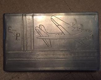 WWII Trench Art Cigarette Case