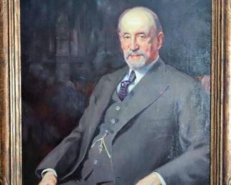 "M-50: ""Ralph Modjeski Portrait"". Oil on Canvas. Signed lower right. $2,450.00."