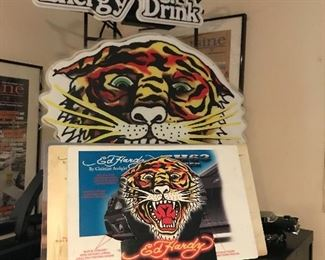 Ed Hardy neon sign & Posters