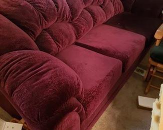 Newer Burgundy Sofa