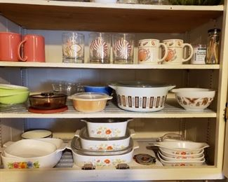 Corning Ware, Vintage Pyrex and Contemporary Pyrex..and other dishware