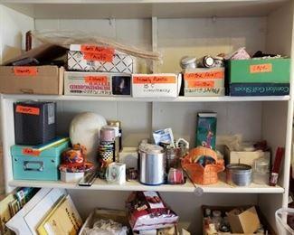 Lots of Art Supplies-Art Paper, Canvas, Ribbons, Laces, Sparkle, Paints, Brushes, etc.