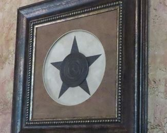 Framed Texas Seal and star