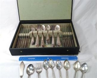silverware . including Carlton, Oneida, and Florentine