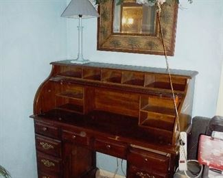 roll top desk /lamps