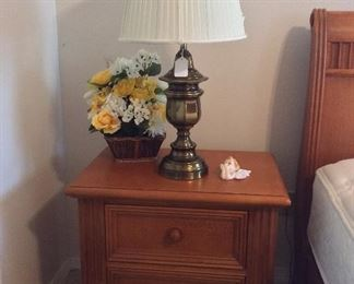 "Pair of 2-Draw Bedside Tables, 28"" W x 26"" H x 19"" D."