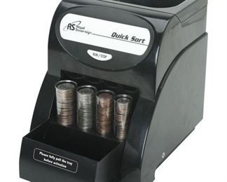 TWO Royal Sovereign 1-Row Coin Sorter (QS-1AC)