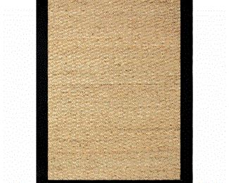 2 Hand-woven Coastal Seagrass Black Area Rug (2' x 3')
