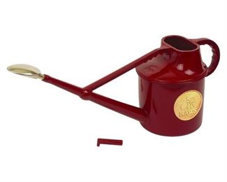 Haws V106 Deluxe Plastic Watering Can, 1.8-Gallon/7-Liter, Red