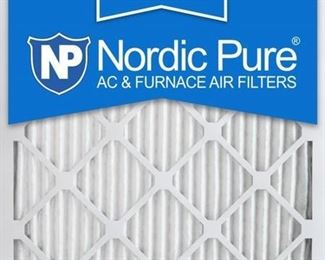 Nordic Pure 25x25x1M12-6 MERV 12 Pleated Air Condition Furnace Filter, Box of 6