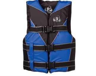 Full Throttle Teen Dual-Sized Nylon Water Sports Vest, Blue
