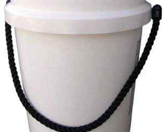 SET OF 5 Encore Plastics 500441 Paint Pail, 5 gal, Rope Handle