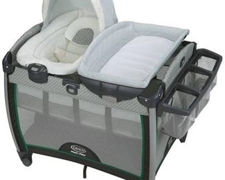 Graco Pack 'n Play Quick Connect Portable Bouncer Bassinet, Albie