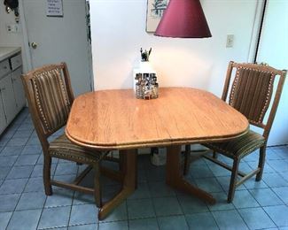 Oak Pedestal Table