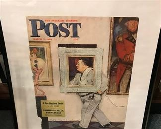 Vintage Framed Post Magazine Cover