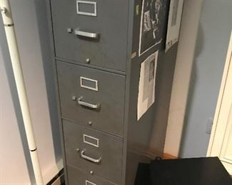Several Metal File Cabinets