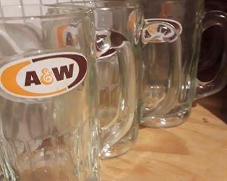 "Vintage ""A&W"" Mugs."