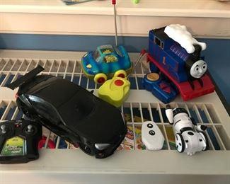 Remote control vehicles including Thomas Train Turbo Flip