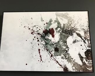 Abstract Wolf art by Alex Cherry