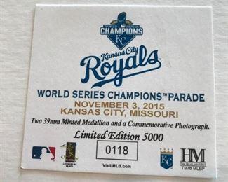 "Royals ""World Series  Champions Parade"" Limited Edition 5000 #0118"