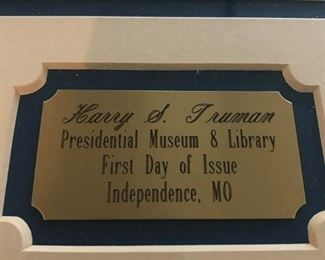 """Harry Truman - """"First Day of Issue"""""""