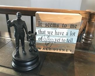 """""""Partners"""" Walt Disney and Mickey Mouse Statue"""