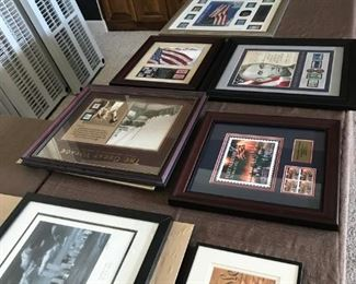 Commemorative Art, nicely framed and matted