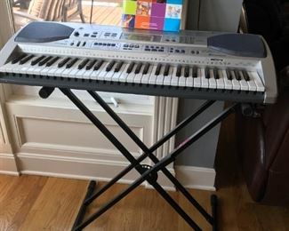 Casio 61 key electronic keyboard with stand-LK-90tv