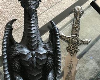 Dragon sword, wall art