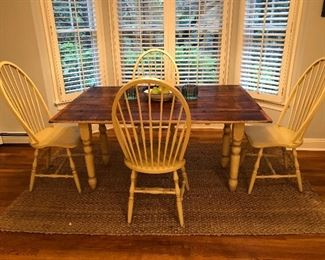 August Jackson Furniture Farmhouse Table and 4 Chairs
