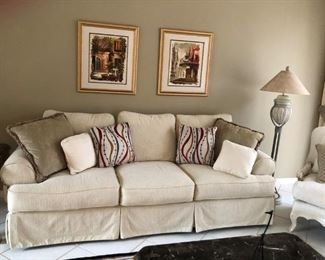 $300 for couch.  Stain free, Smoke free and Pet free home.