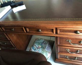 Office desk, solid wood in great condition.  $95