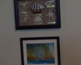 Decorative Ship Painting. Ship-Related Artwork