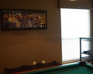 Game room Decoration. Lance Armstrong Picture.