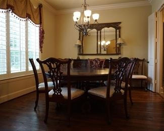 Dinning Room Furniture. Large Mirror. Lamps.