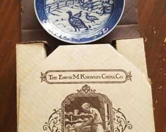Knowles Collectible plate
