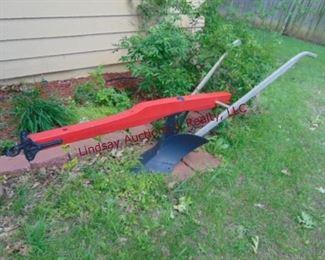 114 Horse drawn wood beam V plow