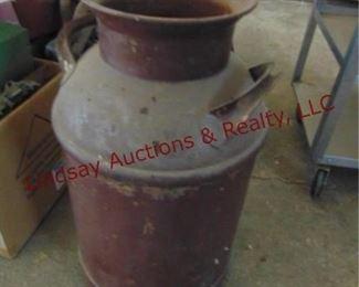 141 Vintage metal milk can